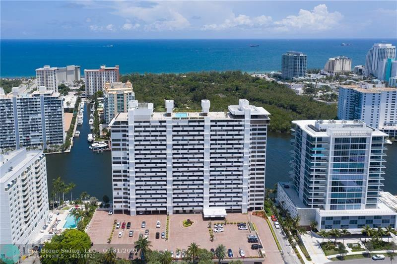 HIGH FLOOR, DIRECT OCEAN 2 bedroom 2 bath directly on Sunrise Intracoastal Waterway. Breathtaking  DIRECT OCEAN, Bonnet Preserve and ICW views from inside your condo. City skyline views from each bedroom. custom walk-in closet, in home W/D, large private balcony. Updated semiprivate elevator foyer, heated rooftop pool, 3 room fitness center on PH level, 24 hr security, garage parking + huge outside parking deck for 2nd car and guests. BEST LOCATION! Nearby hi end restaurants, gym, Publix, Starbucks, water taxi, public transportation. short 3 block walk to the ocean. Watch Annual Air & Sea Show/4th of July Fireworks from Corinthian Rooftop. Enjoy the Winterfest Boat Parade w/ friends from your private balcony terrace. NO PETS. Financially so