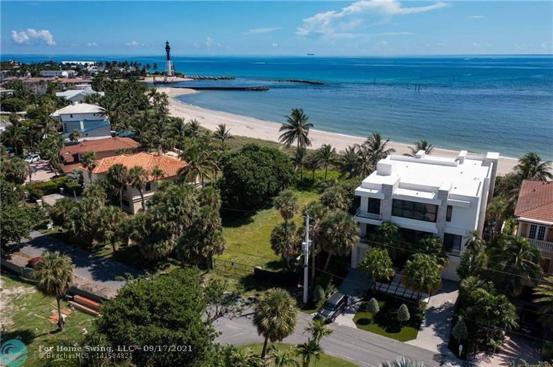 OCEAN FRONT LAND WITH STUNNING PANORAMIC ENDLESS VIEWS OF THE OCEAN AND THE HILLSBORO LIGHTHOUSE! What are you waiting for? Isn't it time to Relax, Live the Florida Lifestyle and build your dream home. This is an amazing and rare opportunity to own one of the last remaining oceanfront parcels in the heart of Hillsboro Shores, a small upscale beachfront community with exclusive private beach access. Spectacular views of the Lighthouse and the constant boat action all year long that passes through the Hillsboro Inlet makes this spot a magnificent location.