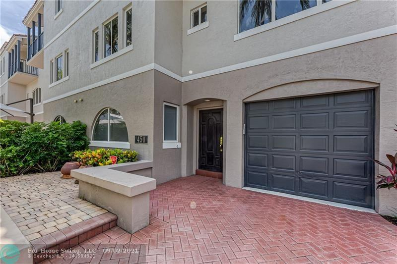 It the heart of Downtown Boca Raton! Well appointed townhouse with 3 bedroom, 3.5 bathroom, 1 car garage, laundry room, & an elevator. Enjoy the large & open kitchen with great storage, double ovens, stainless appliances, granite counters, flat top stove & extra long counter for barstool seating. Bright and open living space allows many furniture configurations including 2 living areas & full dining space. Tile and wood flooring throughout, primary bedroom has a walk in closet and large bathroom with double sinks, full shower and separate spa-like tub. Take advantage of this fantastic location just half a mile to put your toes in the sand and only one black to shopping and dining. All ages, pet considered with a deposit. Unfurnished annual