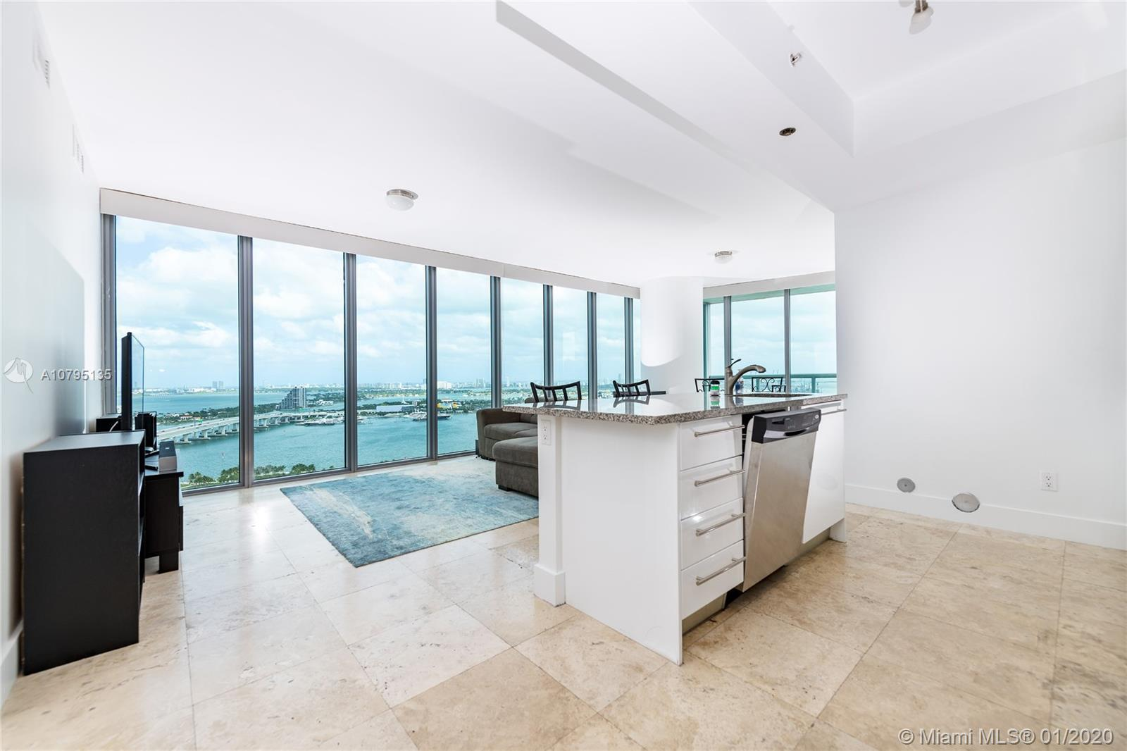 Best line in the building. Unobstructed gorgeous views of Biscayne Bay, Downtown Miami and the beach