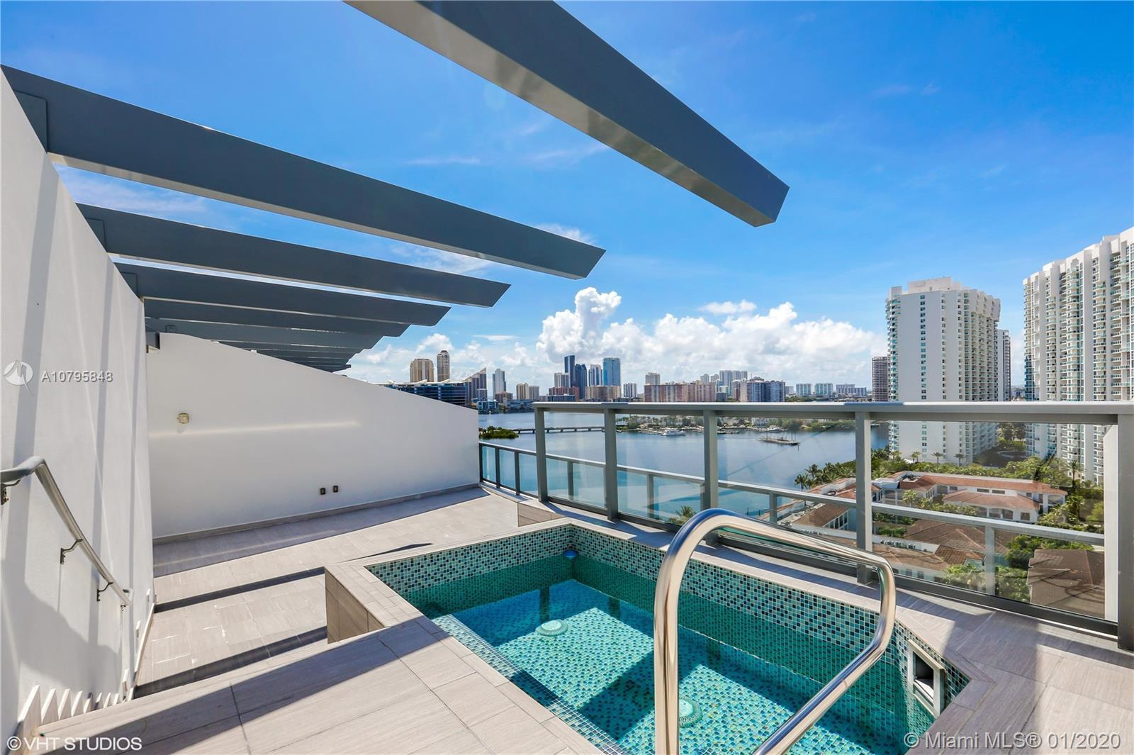 Spectacular 8BD/8BA + 2 half bathrooms upper PH units (2 units combined) at Echo Aventura, each with