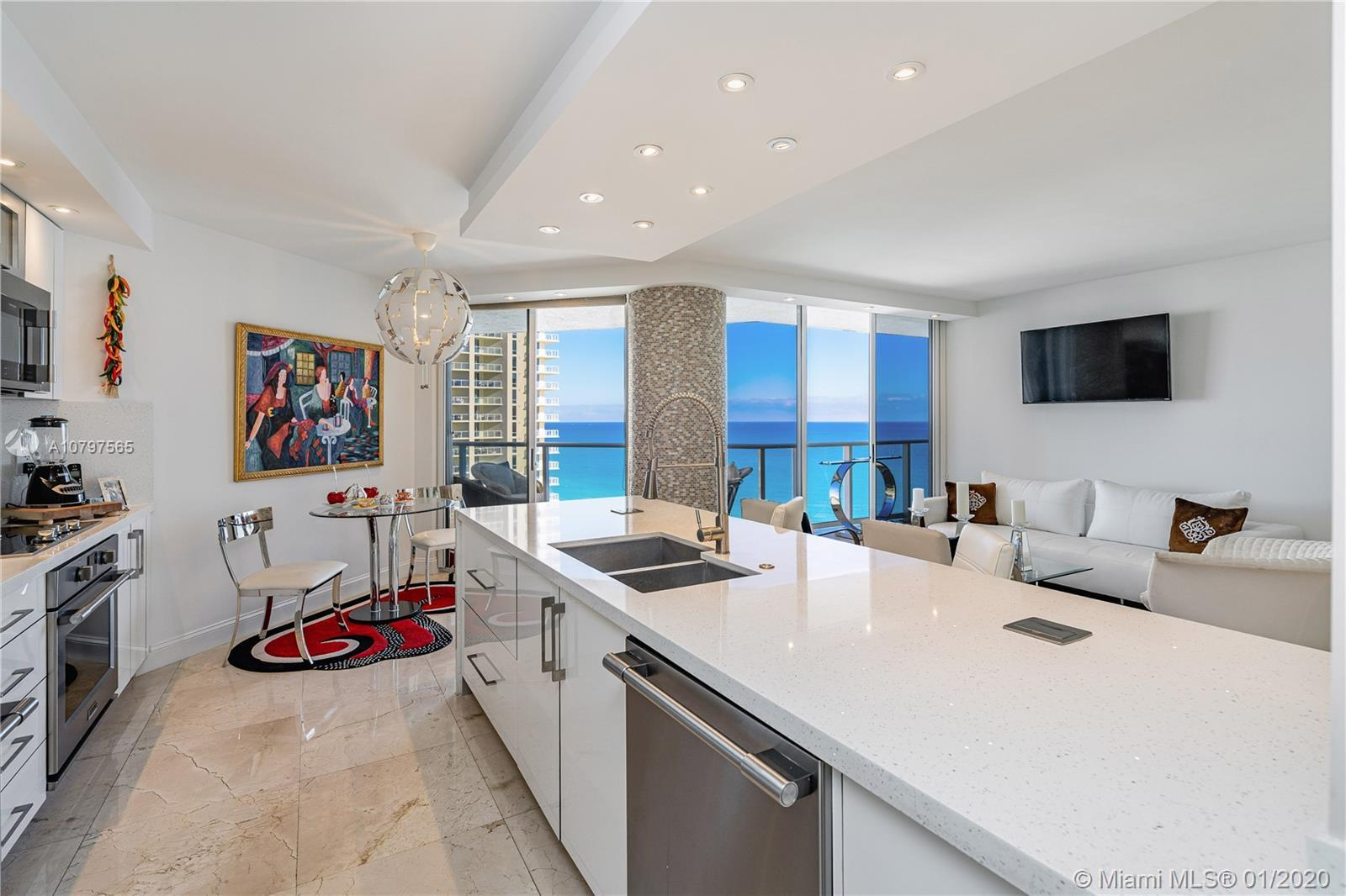 One of a kind remodeling of this oceanfront condo in the 24th floor, offering breathtaking direct oc