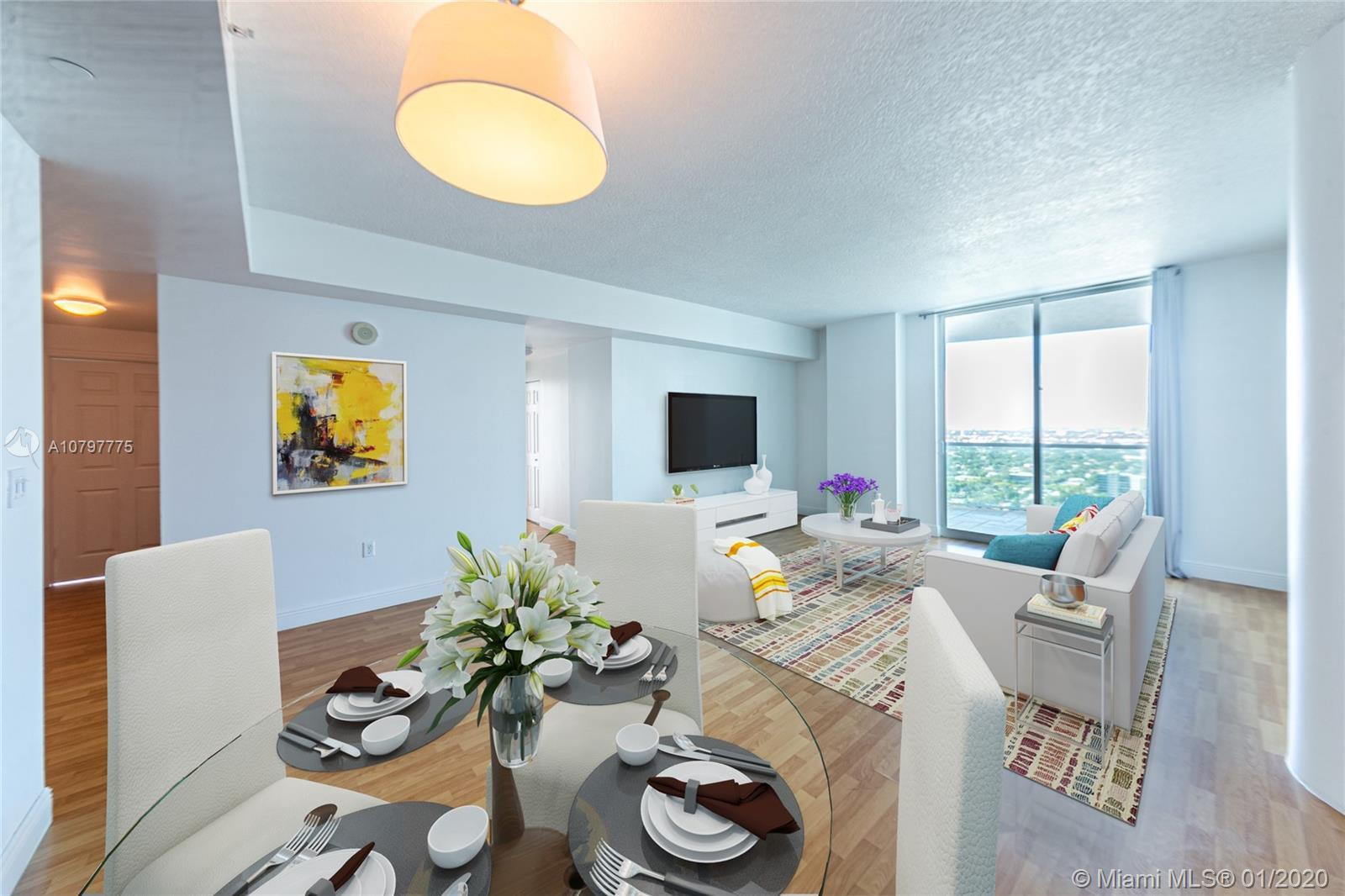 Rare to find: 3 bedroom / 3 bath corner unit at one of the highly desirable bayfront community in th