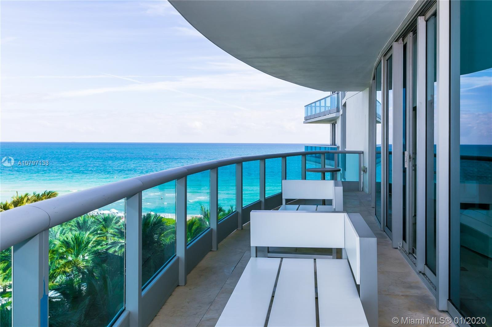 Sophisticated two bedroom + den ocean front condo located at the exclusive Azure Boutique bldg. Soug