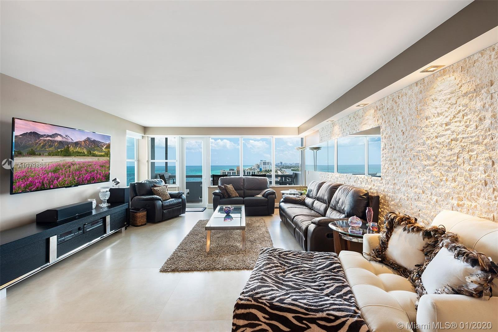 Luxury Penthouse in the Sky! Largest 2 bedroom/2 bath in Hollywood Towers. Beautiful, modern renovat