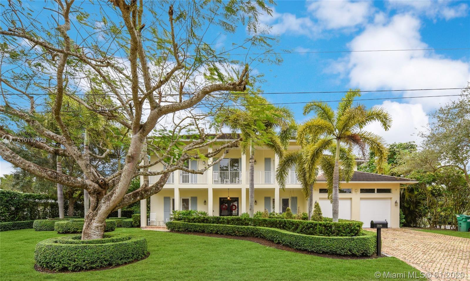 Key West style home (built 2007) impeccably maintained in prestigious Village of Pinecrest! 5 Bedroo