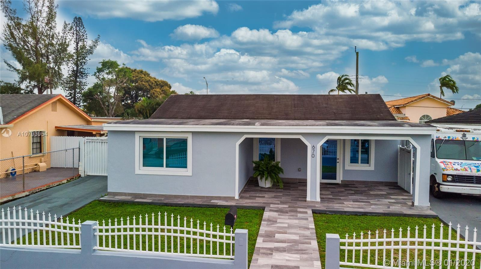 You'll love this charming, Hialeah home with a great sized backyard. This 4 bedroom, 2.5 bathroom ho