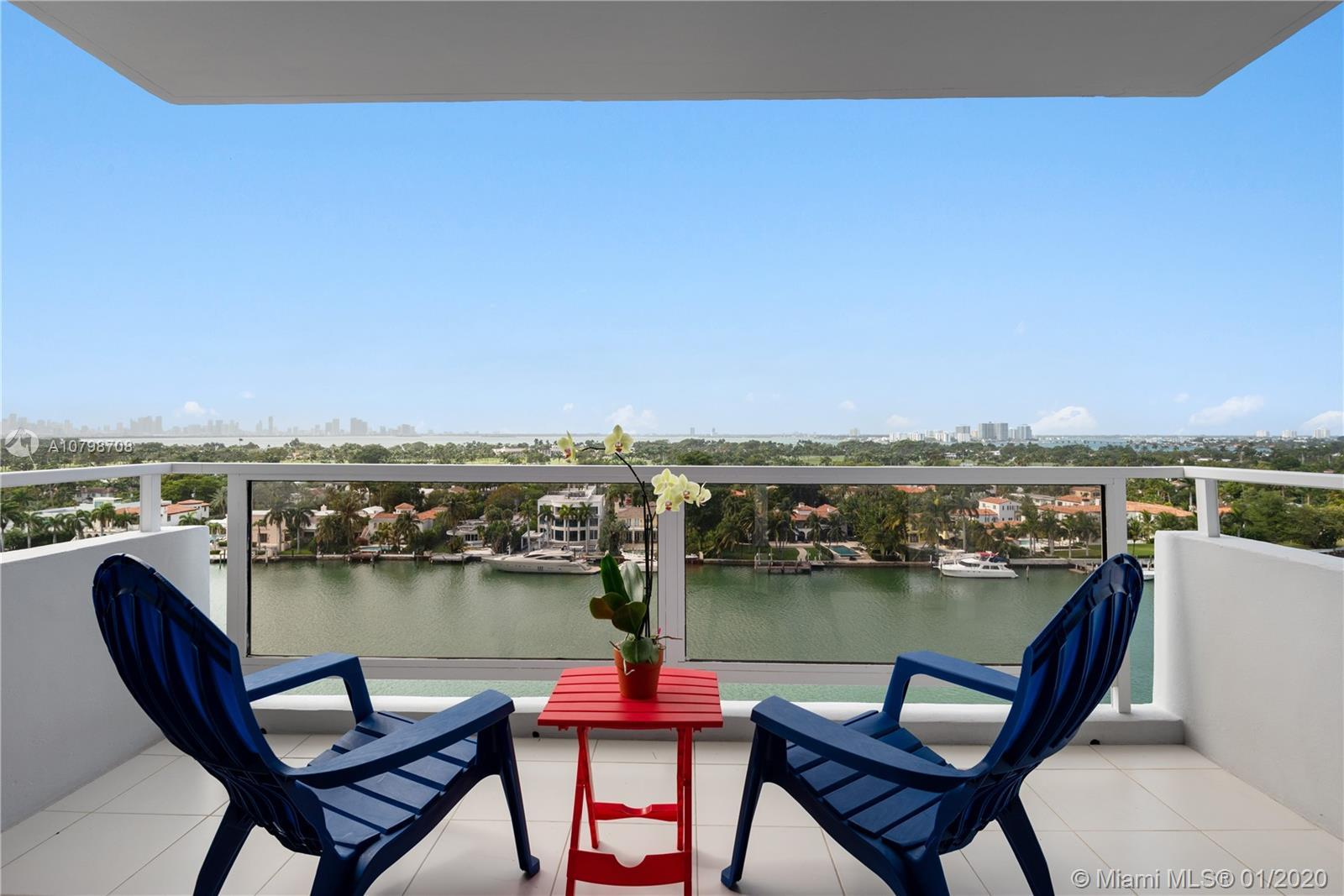 Stunning unobstructed Intracoastal, Golf Course and City views from this 2 Bedroom/2 Full Bath split