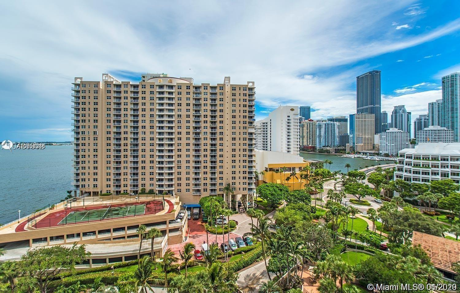 Best PRICE 2-2 unit in Brickell key I, this building is a classic and well maintained building for p
