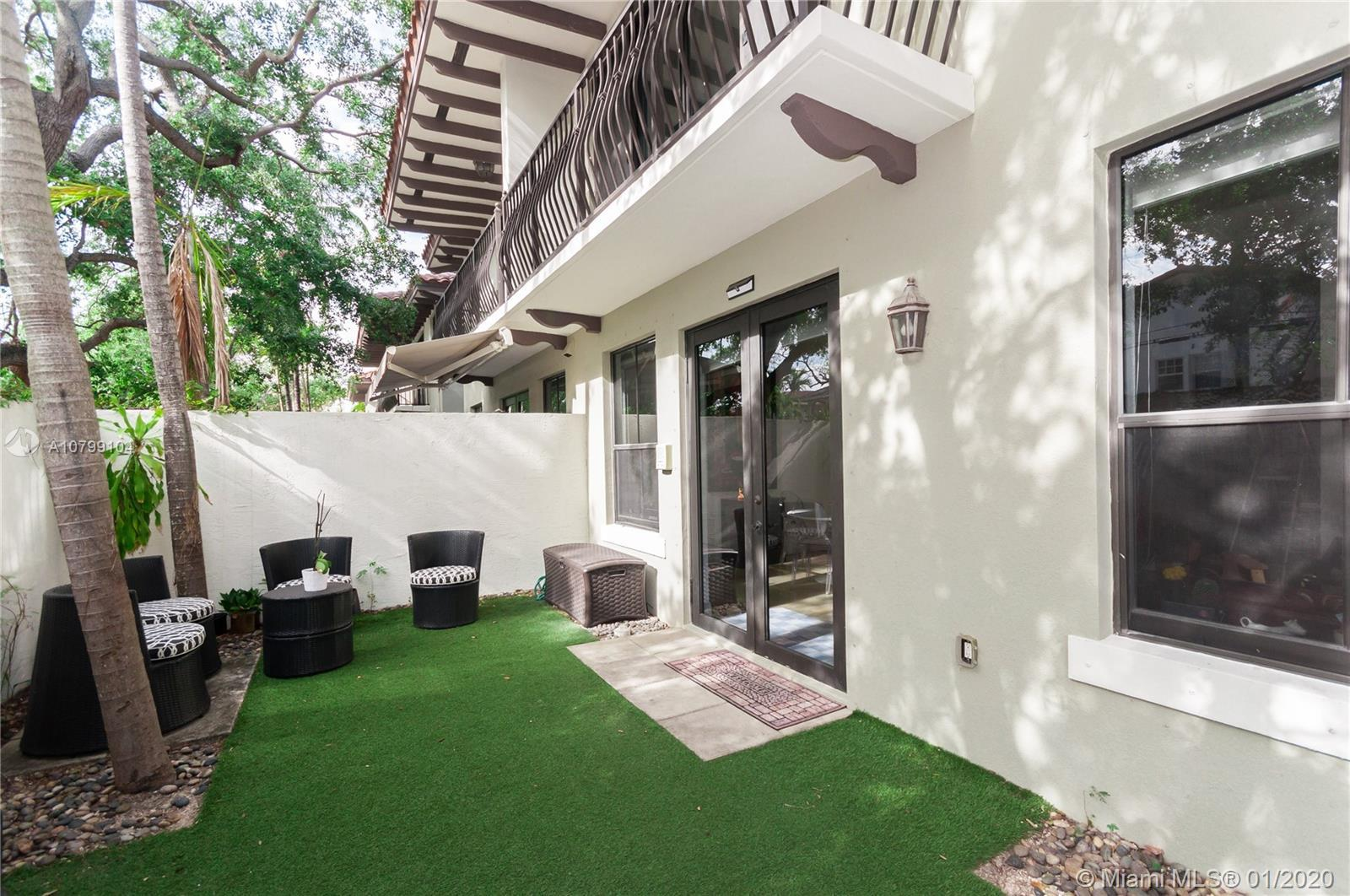 EXCLUSIVE, ENCLOSED, SECURE & PRIVATE COMMUNITY IN CENTRAL COCONUT GROVE LOCATION. 3 BED, 2.5 BATHS,