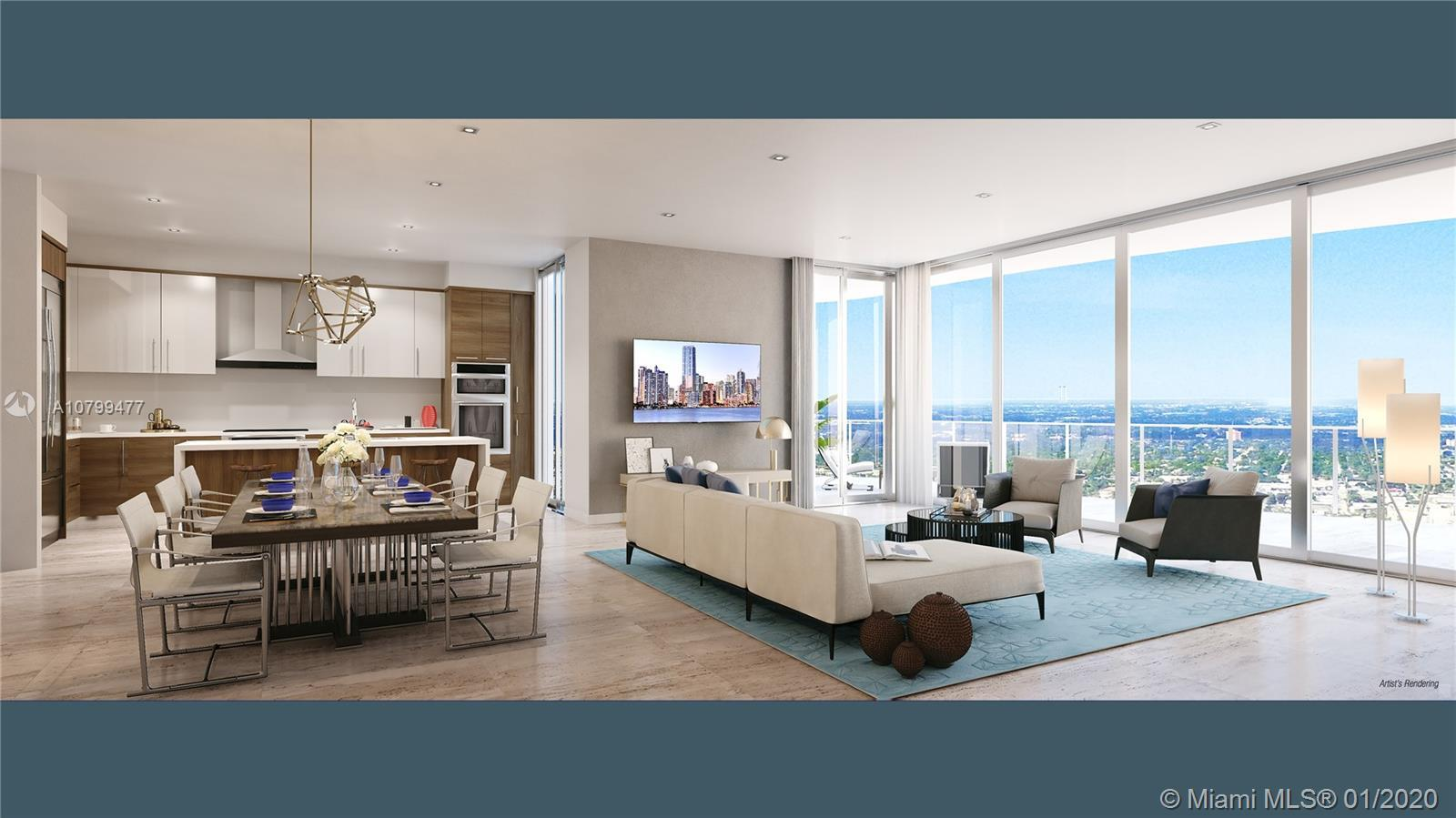 One of only  3 top floor Penthouses in downtown's newest and most coveted building. Delivered fully