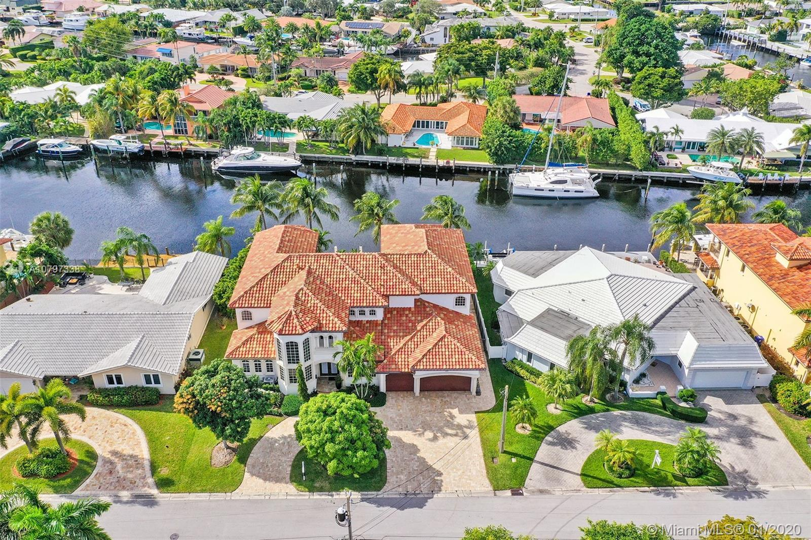 """MAGNIFICENT OCEAN ACCESS POOL HOME IN A HIDDEN POCKET OF EAST FORT LAUDERDALE CALLED """"THE LANDINGS."""""""