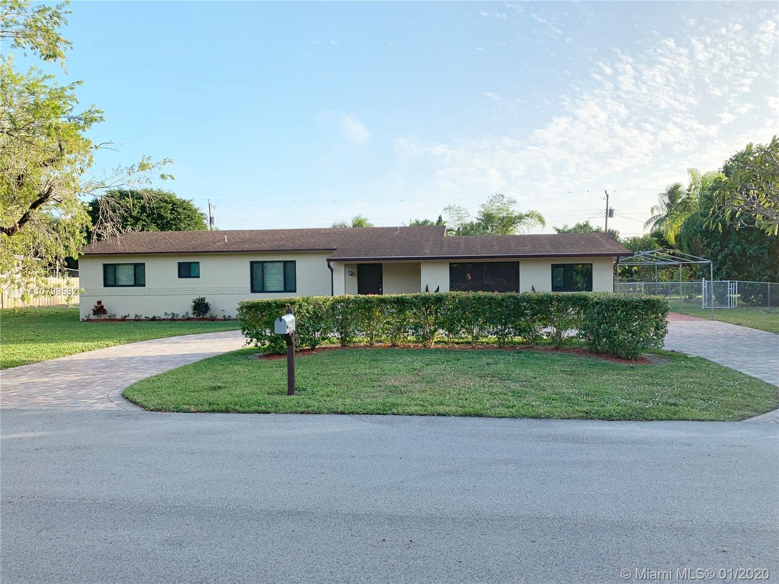 Nice 3 Bedrooms / 2 Bathrooms with a Garage / Den one story home sits on a large lot with a great fl