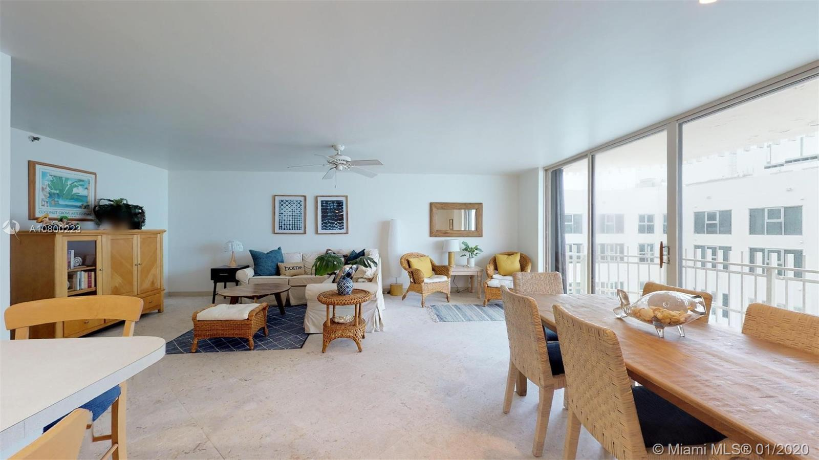 Spacious unit in beach front building with large balconies on each side to take in stunning views of