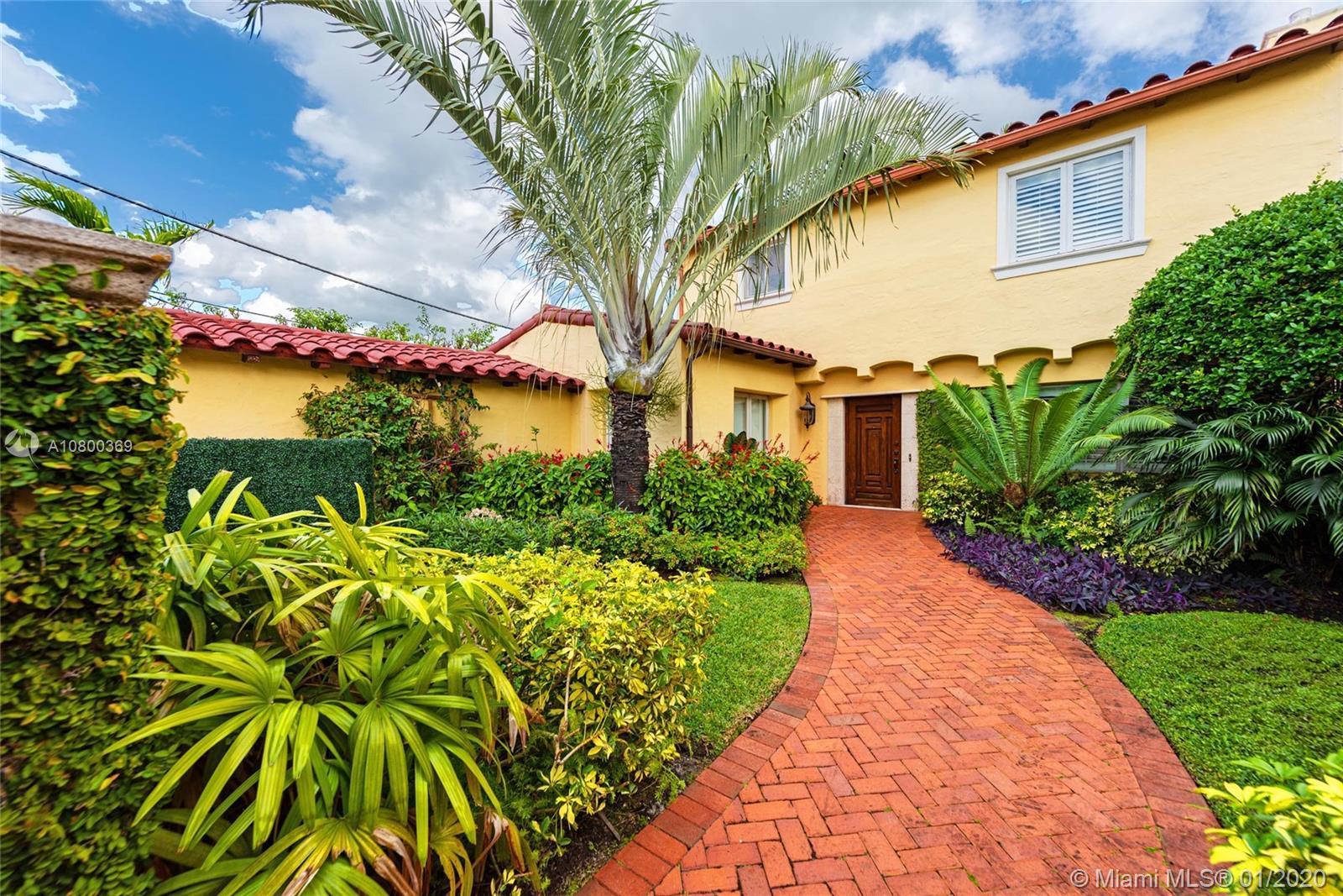 This wonderful 3 bedroom, 4 bath pool home located on prestigious upper North Bay Road boasts grand