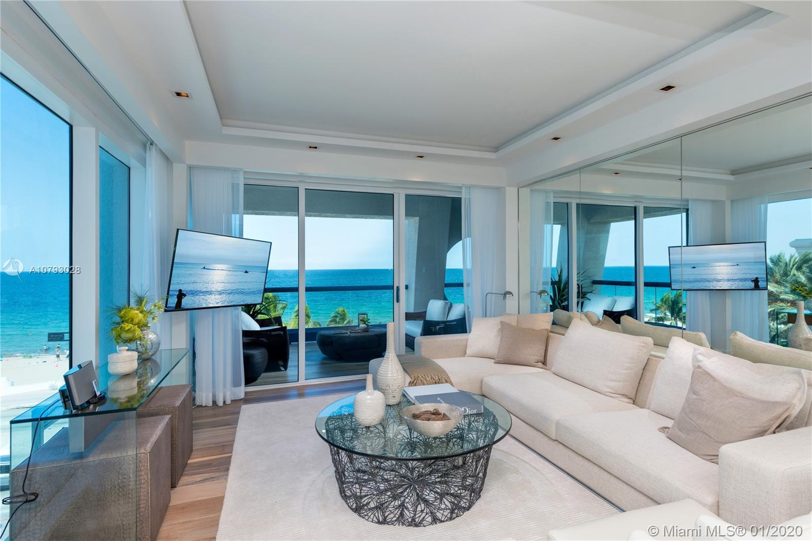 Watch the waves crash from this one of a kind, Beachfront Villa at The Ocean Resort Residences! One