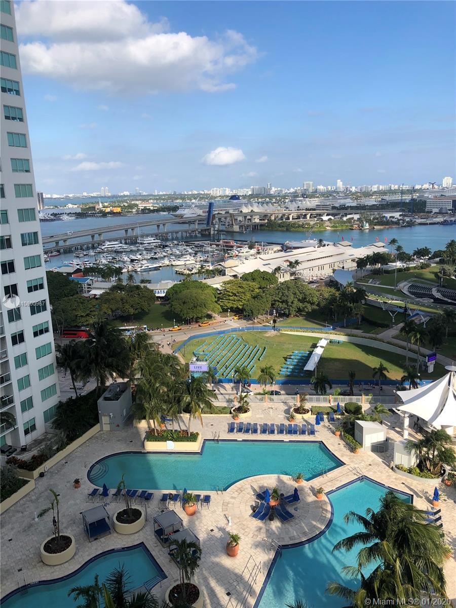 GREAT OPEN VIEW TO BISCAYNE BAY AND THE DOWNTOWN. SPACIOUS TWO BEDROOM WITH GRANITE KITCHEN. GREAT F
