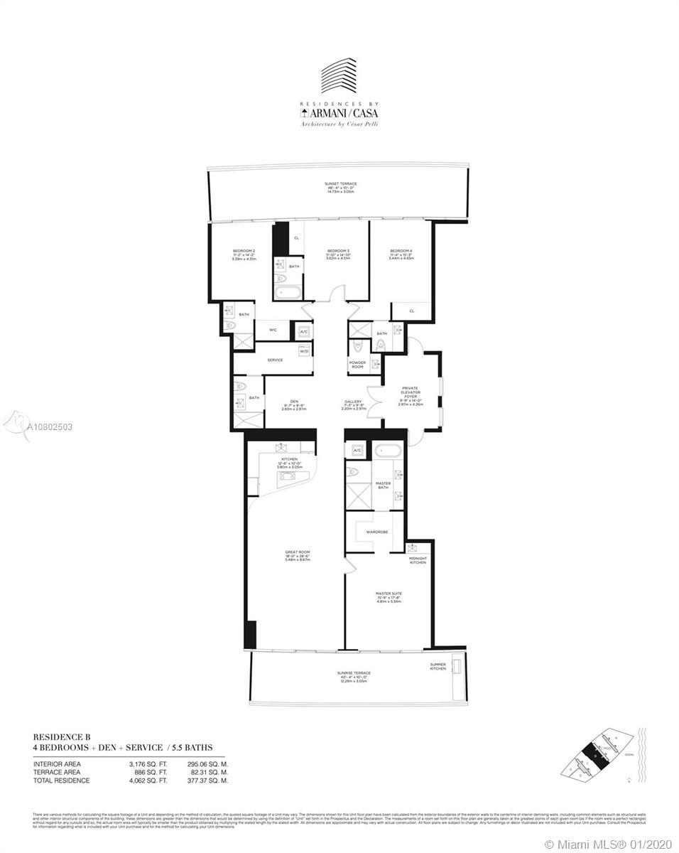 Armani Casa Residences is a dream come true. This flow thru residence offers split floor plan with b