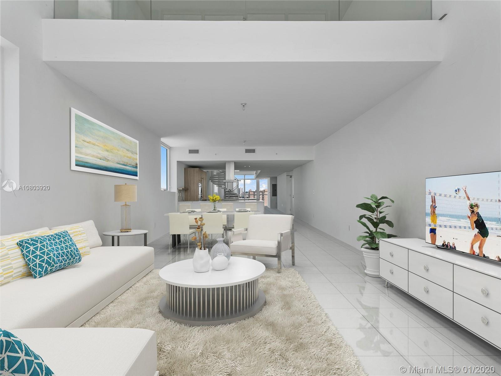 Own the largest 4-bedroom, 4.5 bath, 3 story, in the building. Enjoy this corner penthouse's amazing