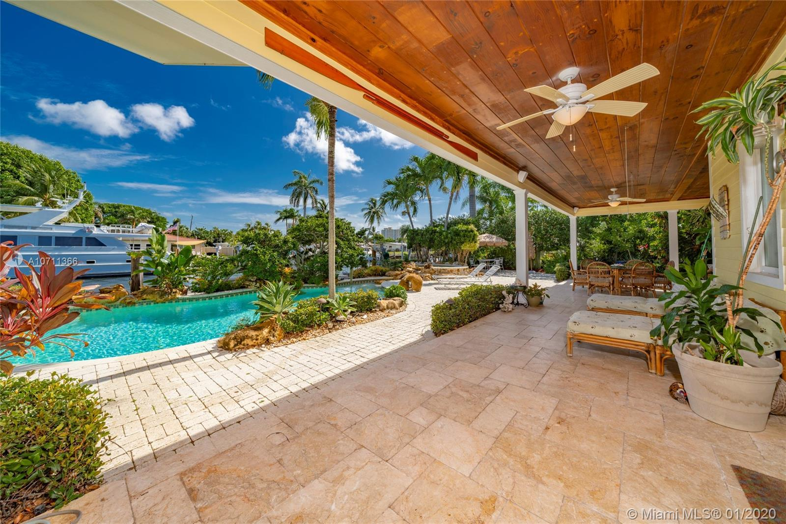 Custom HGTV featured Key West style home is ideal for a large yacht with 132.5 Ft of protected water
