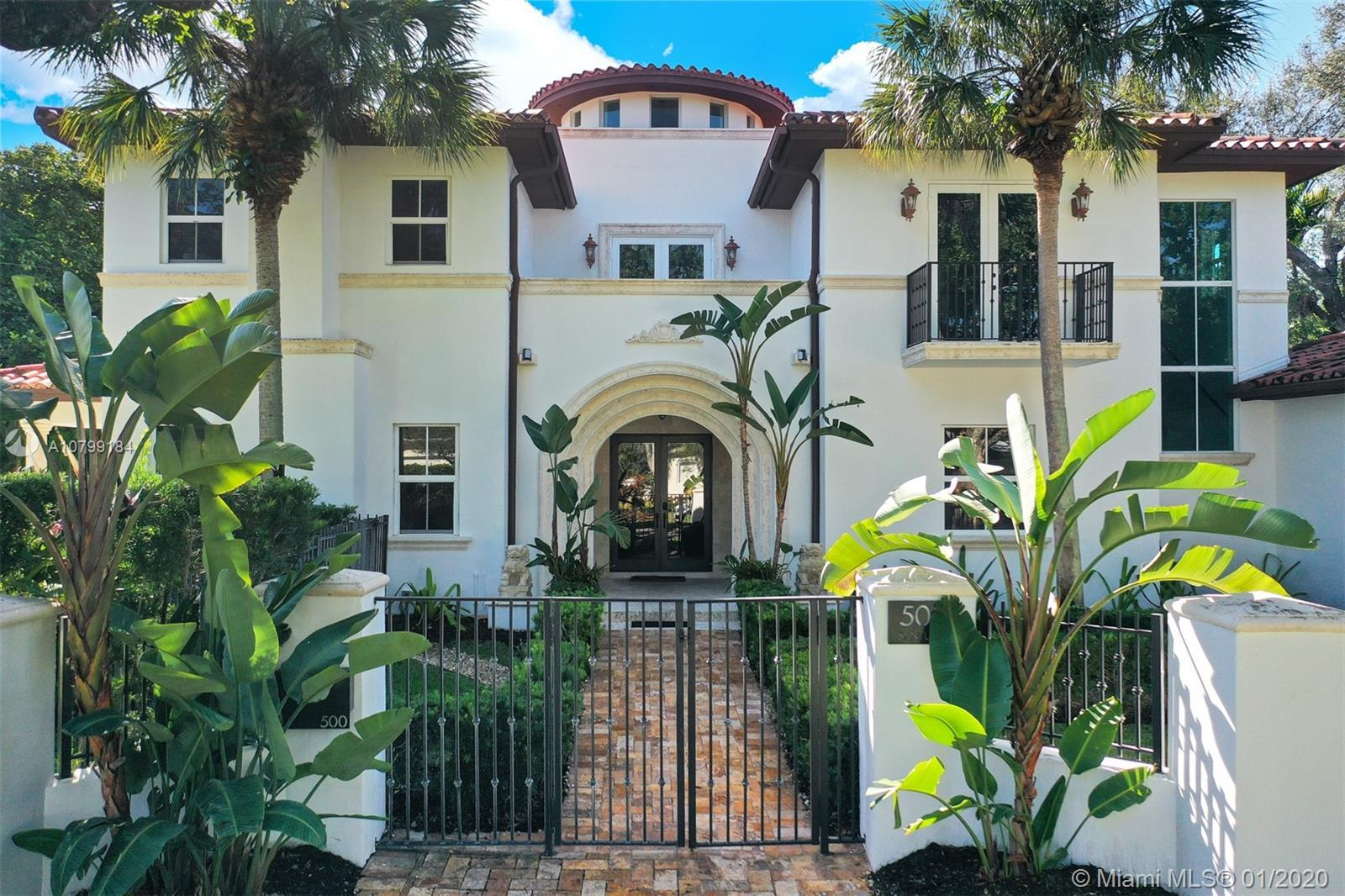 """Custom built home located in desirable Coral Gables """"Platinum Triangle"""". Spacious kitchen, formal di"""