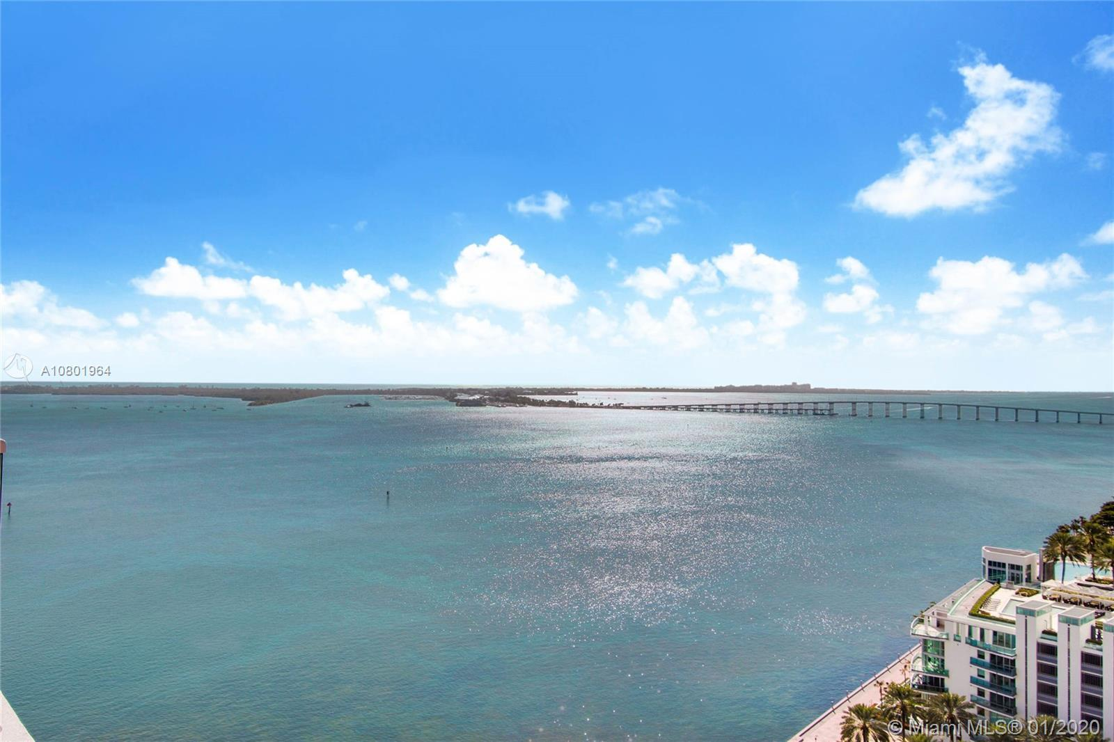Completely remodeled 2 bed/2 bath luxury apartment facing South with bay and city views in the best