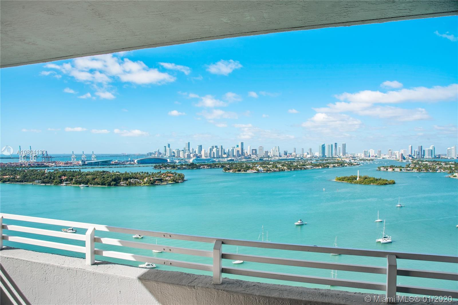 Best line in the building! Come see the incredible views from this SW Waverly South Beach corner uni