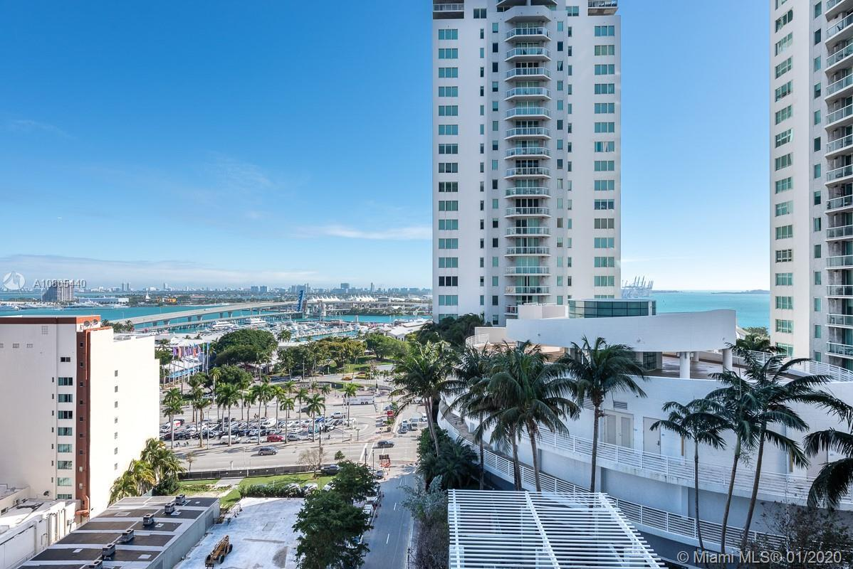 Beautiful corner unit 2/2 at The Loft Downtown, with ocean & bay views from the 15th floor wraparoun