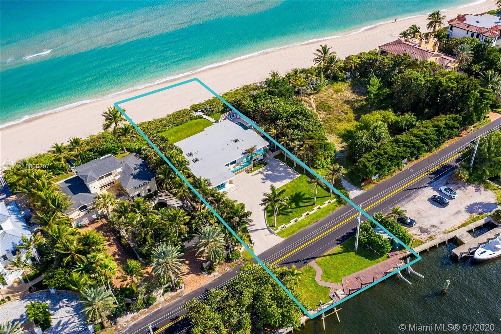 """Watch the sunrise & sunset on this one-of-a-kind Ocean-to-Intracoastal property located on """"Hillsbor"""