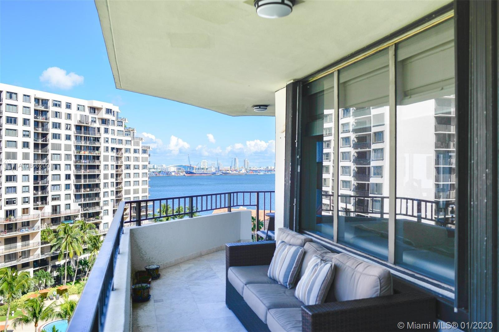Very Spacious 3 bedrooms 3 full baths condo in Brickell Key One with beautiful bay, river and Bricke