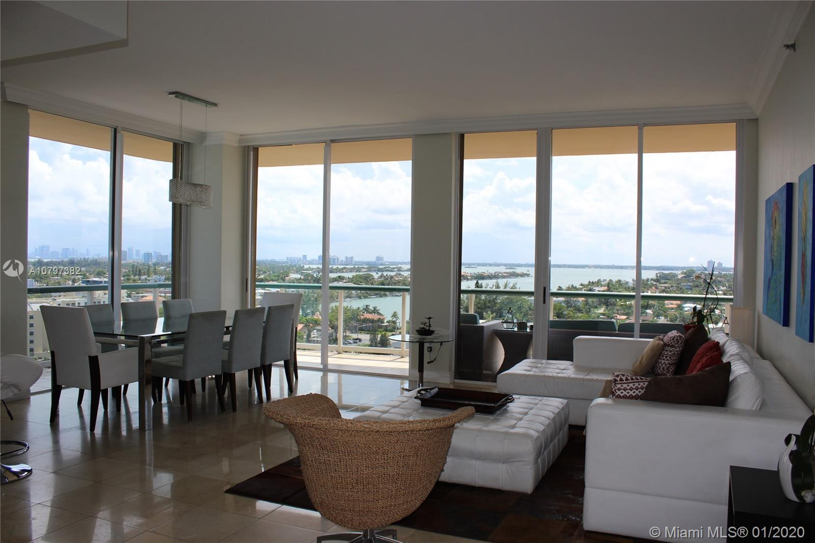 One of kind penthouse in quiet, yet vibrant Surfside, with 10 ft ceiling and the most amazing views