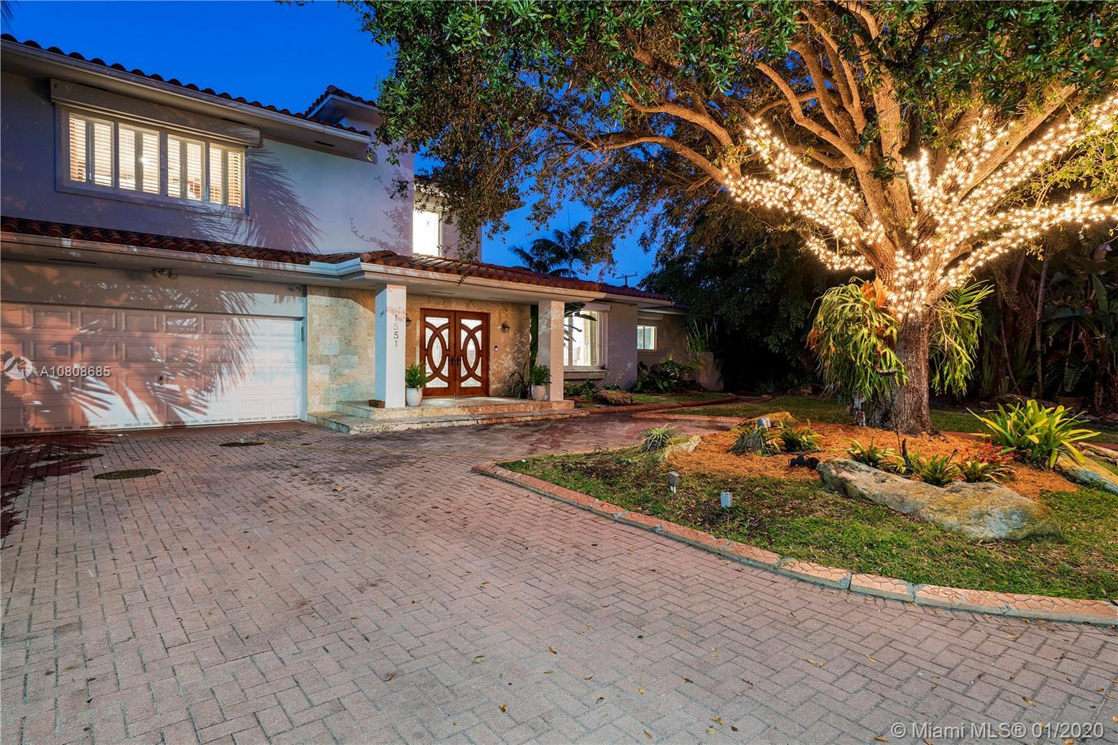 Stunning & unique 2 story pool home in one of the most desirable streets in Miami Shores. Easts of B