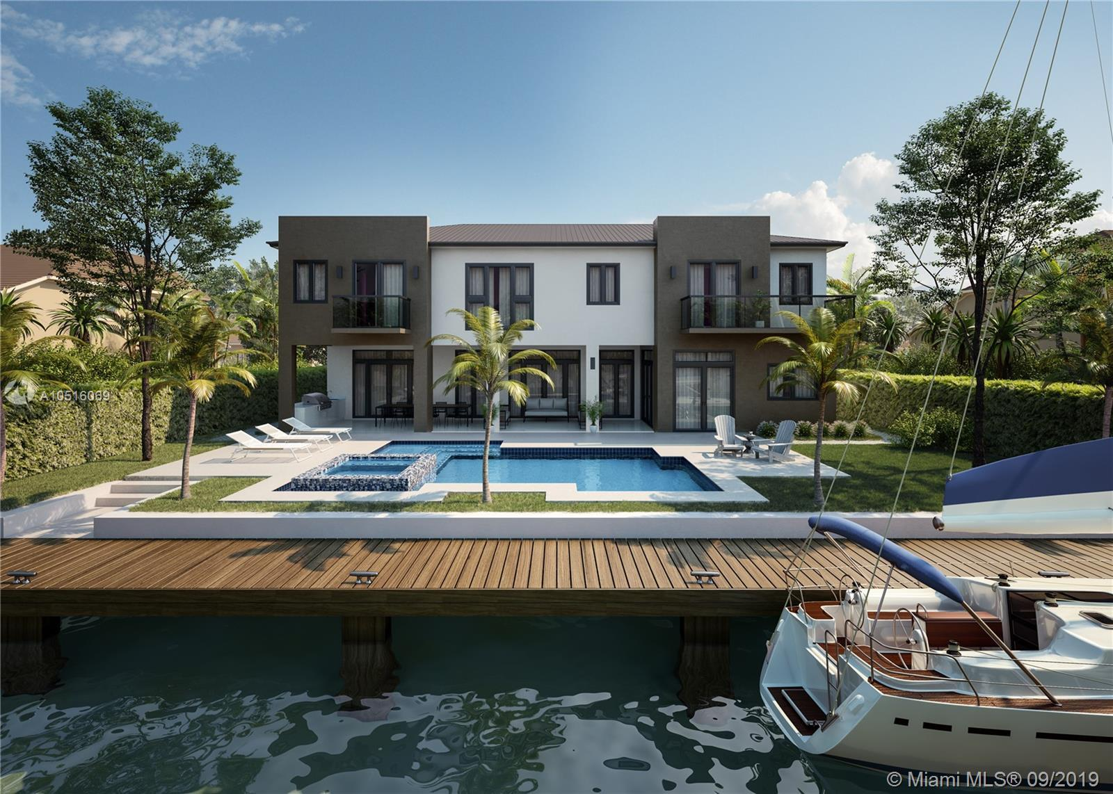 Incredible New Modern Waterfront Estate in the World Class boating community of 'Lighthouse Point. S