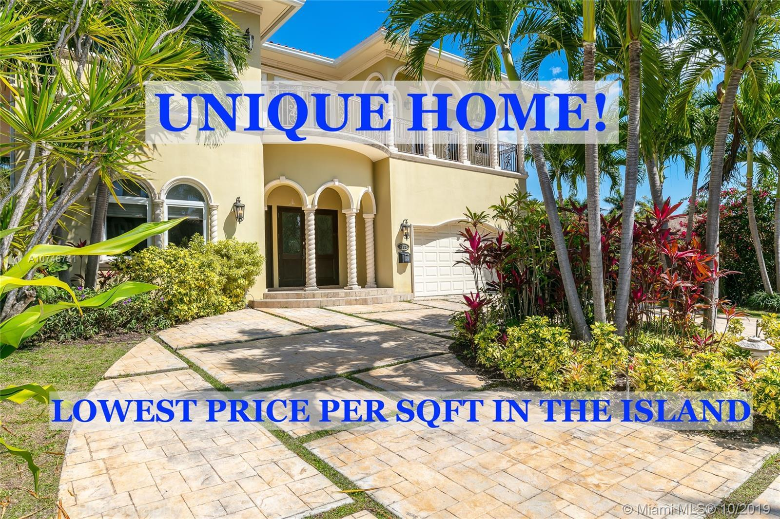 A must see!! Luxury and elegance!! Custom designed home in the gated community of North Bay Island.