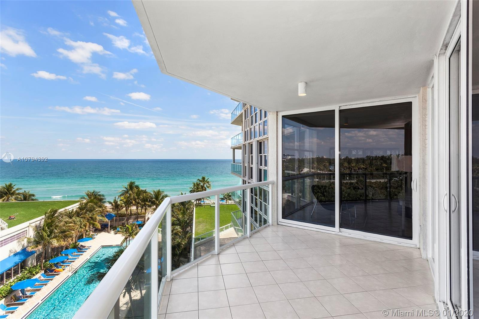 Enjoy ocean and intracoastal views from this spacious 2bed/2.5 Bath 2,025 Sq. Ft. corner unit at Ren