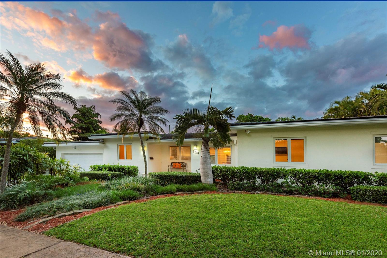 Nestled in one of the Gables beautiful tree lined streets and desired neighborhood, this 4-bedroom,