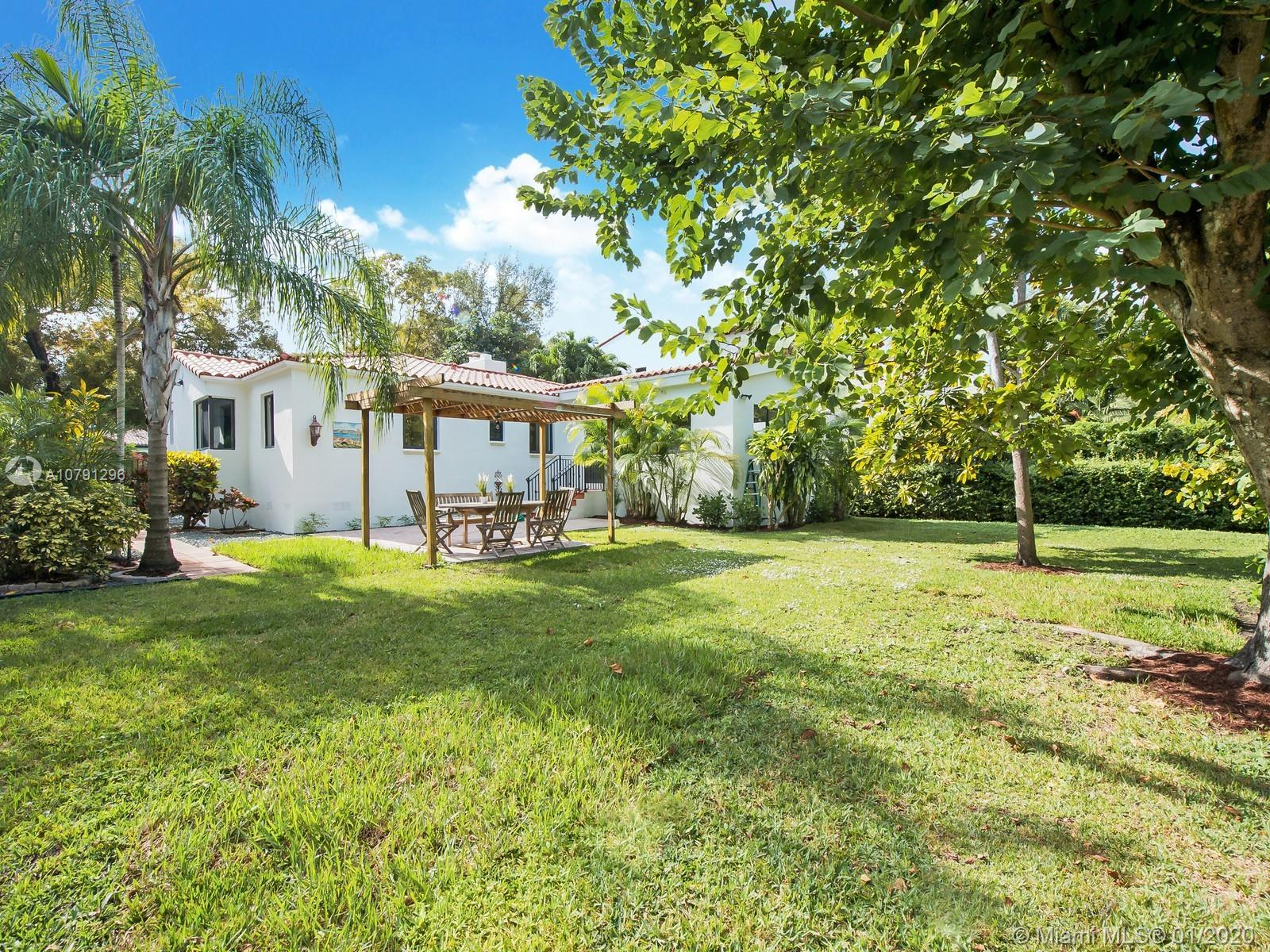 One of the most sought after locations in Coral Gables, walking distance to Miracle Mile, the house
