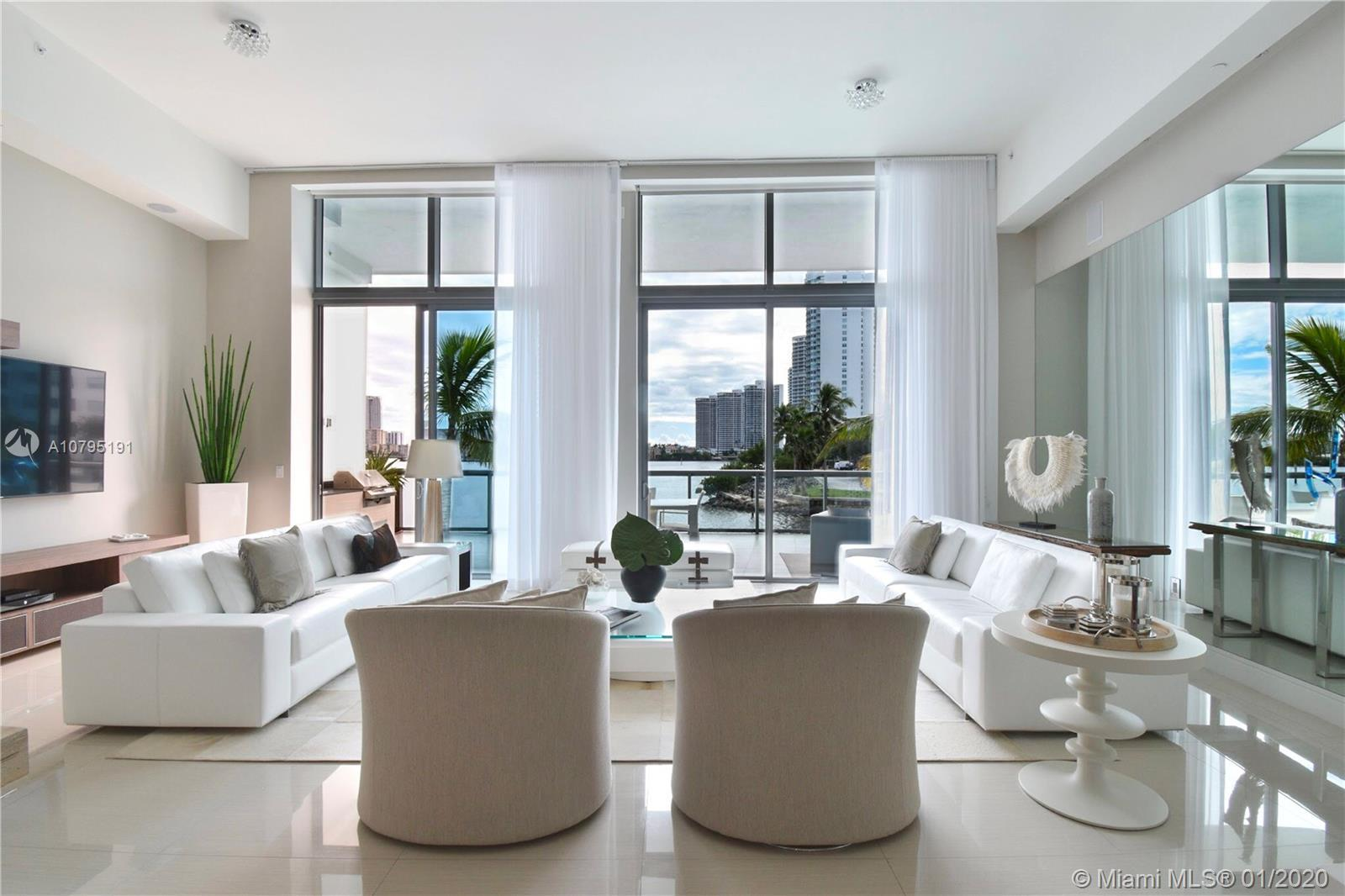 Spectacular One of a Kind lanai residence 1 bed plus den in Echo Aventura. Enjoy magnificent Intraco