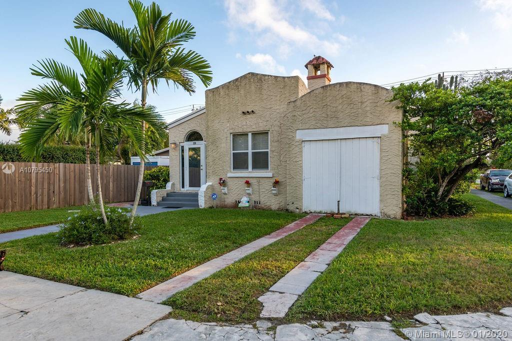 This 1930's Charmer is beautifully remodeled 2/1 w/ garage on large corner lot w/ room for pool and/