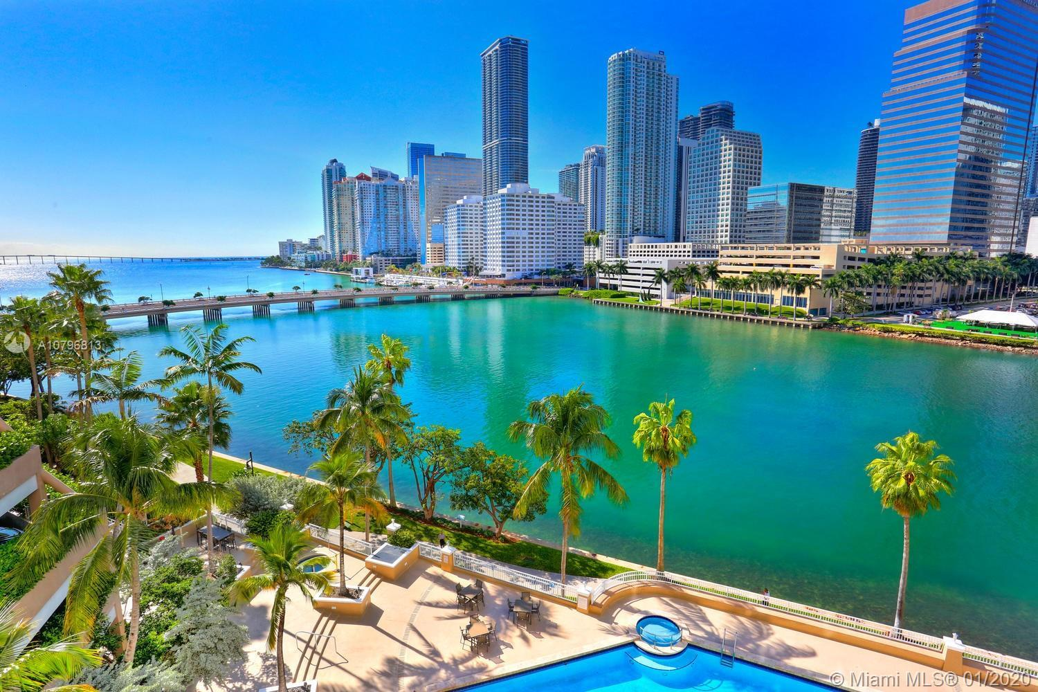 Live like you're on vacation at this waterfront Brickell Key 1 bedroom/1.5 bath condo unit! This pro