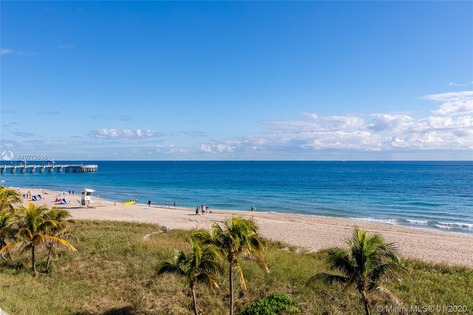 Investor opportunity or ready for your custom design in this oceanfront building . One bedroom, one