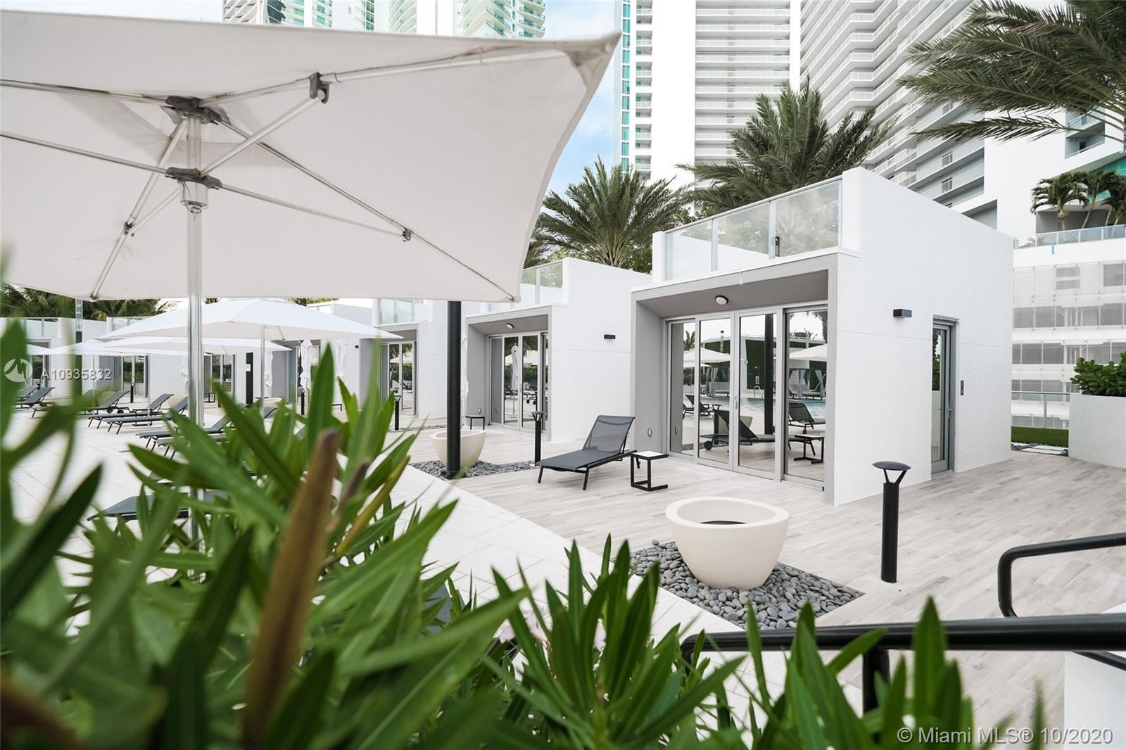 Privately-Owned Pool Cabana situated on the 7th-Level Pool Deck at Paramount Miami Worldcenter in Do