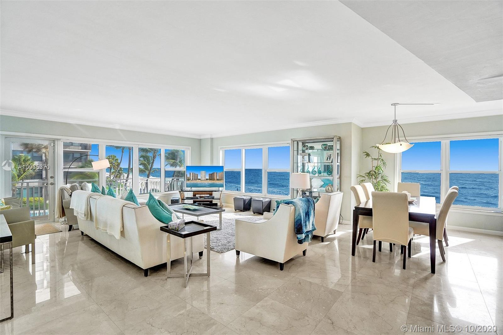 Don't miss out on the chance to own this beautiful direct ocean 3 bedroom condo.  Occupying the Nort
