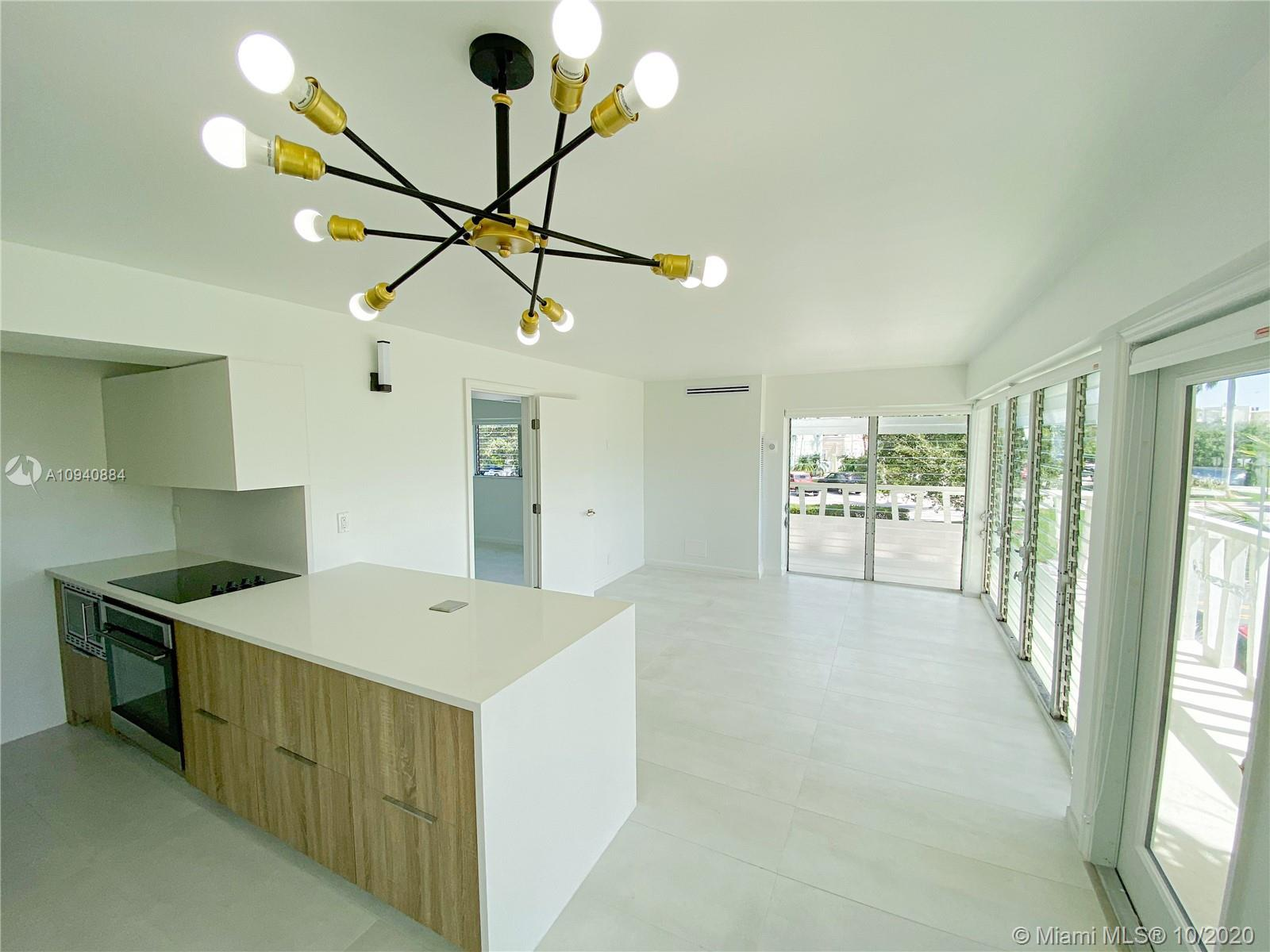 Ready to Move-in completely remodeled 2/2 garden Condo East of US-1, Close to shopping, and to the L