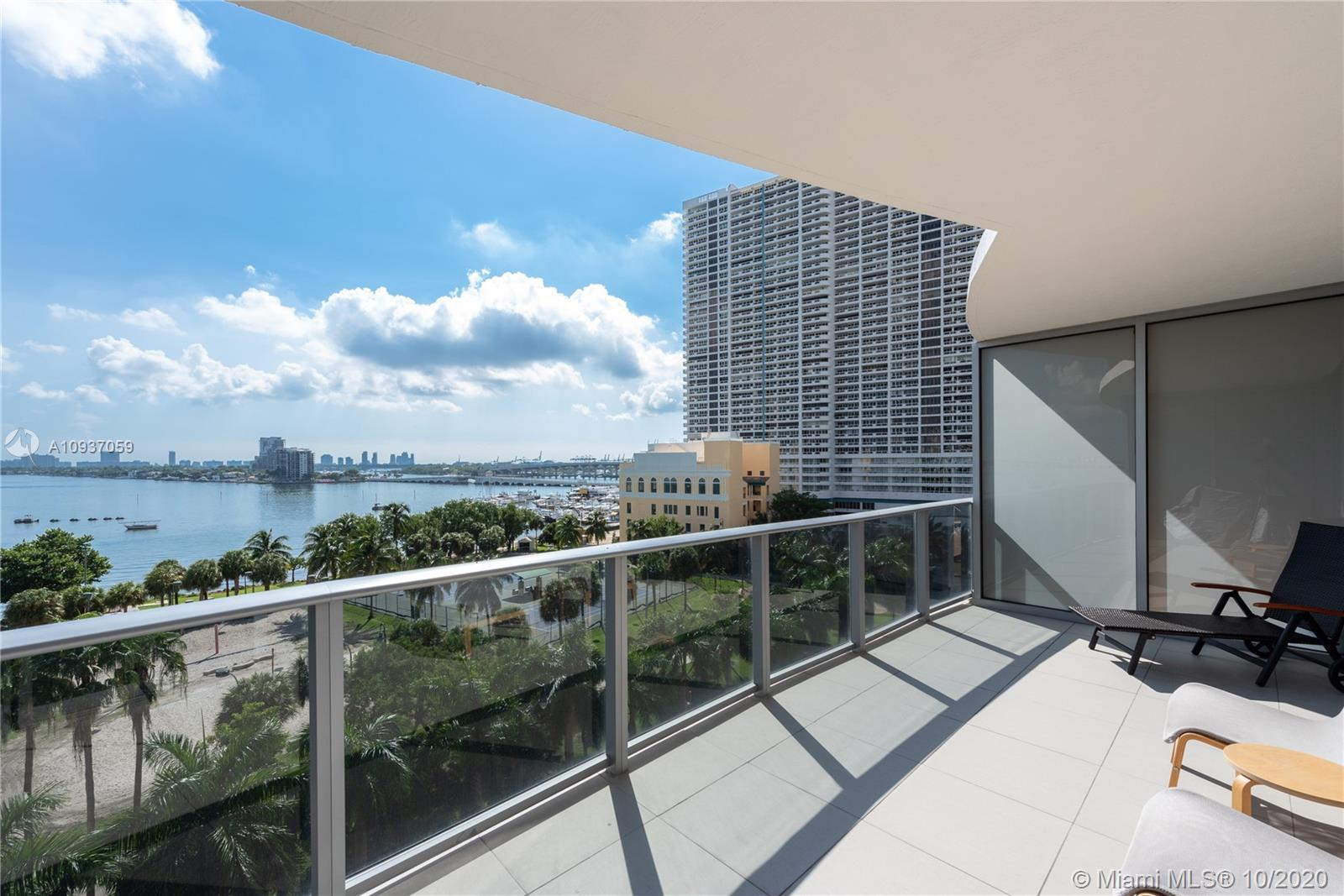 THE UNIT: One bedroom, one full bathroom & one half bath. Oversized balcony facing the bay & park. F