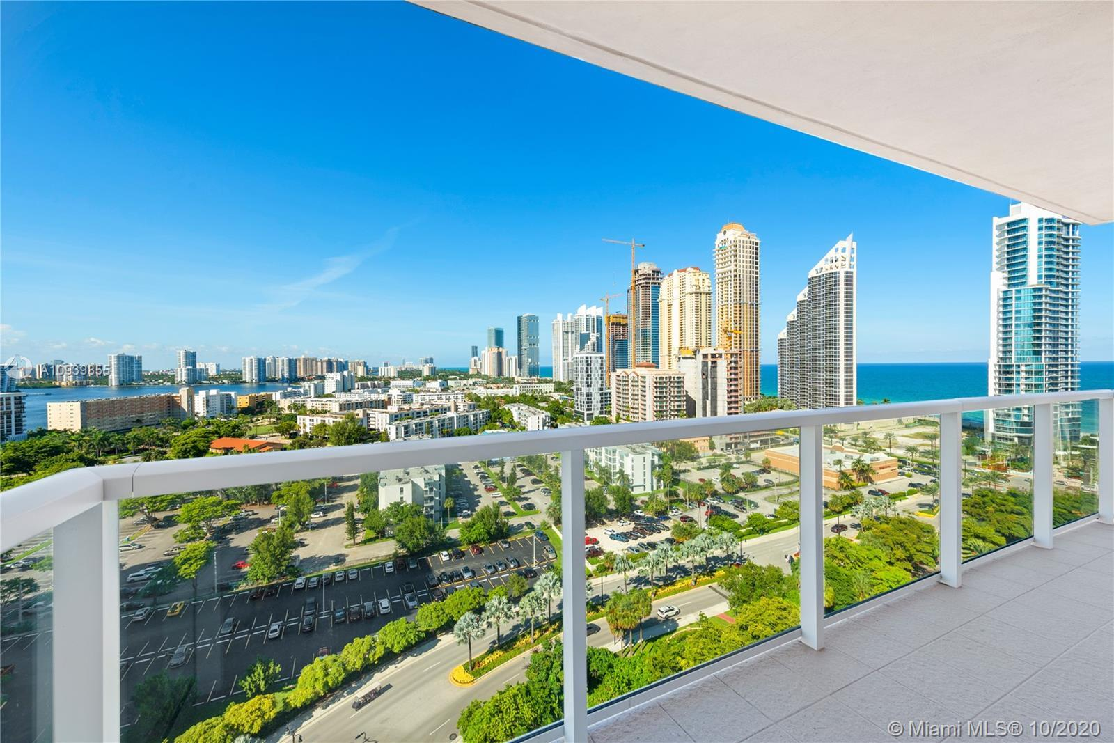 Breathtaking views from this spacious unit in Sunny Isles. This apartment features 2 bedrooms & 2 ba