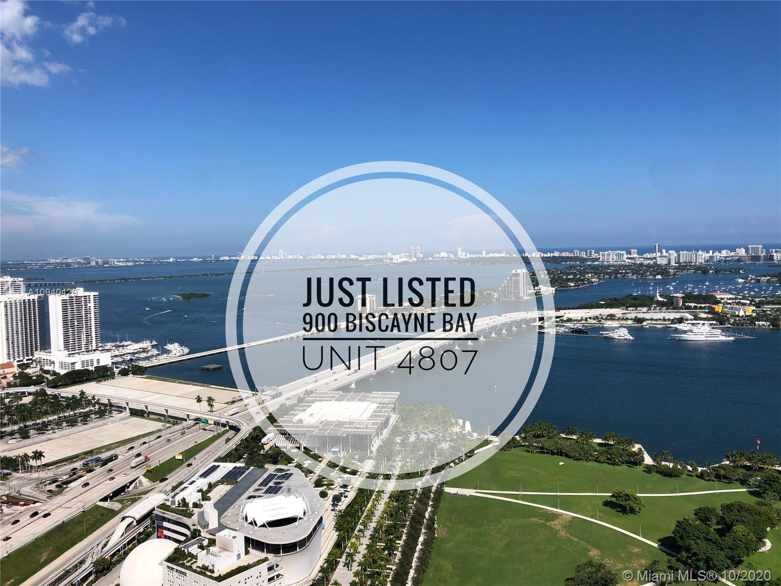 High floor and spacious 1 bedroom + Den with direct bay views with 2 full bathrooms. Unit features f