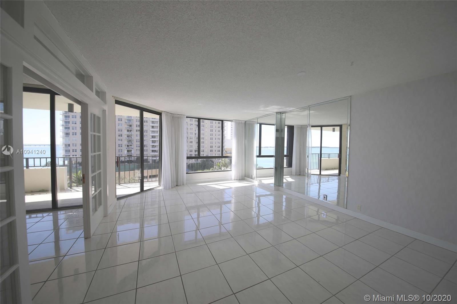 Brickell Key One Condo spacious 2 Bedroom 2 Bath large balconies, water views, city views. Heated sw