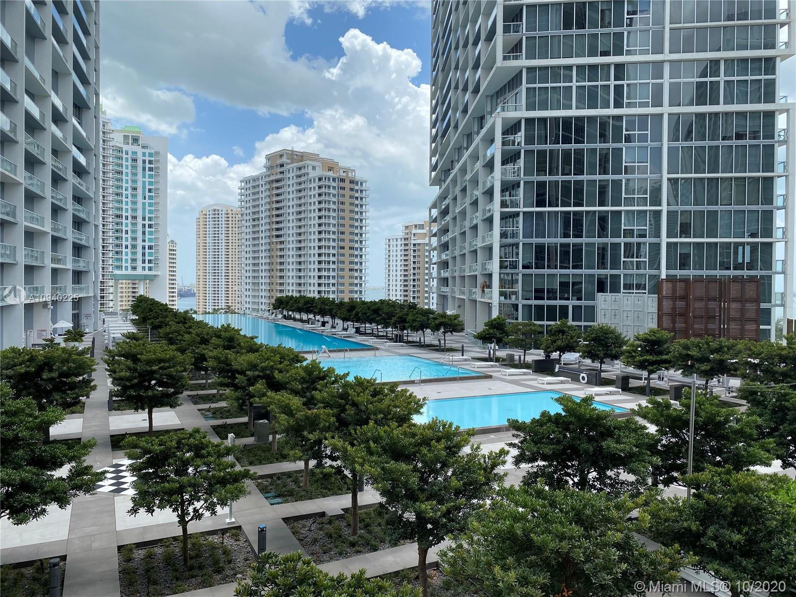 Beautiful 2BD/2BA unit at Icon Brickell Tower III with spectacular bay and city views. Fully furnish
