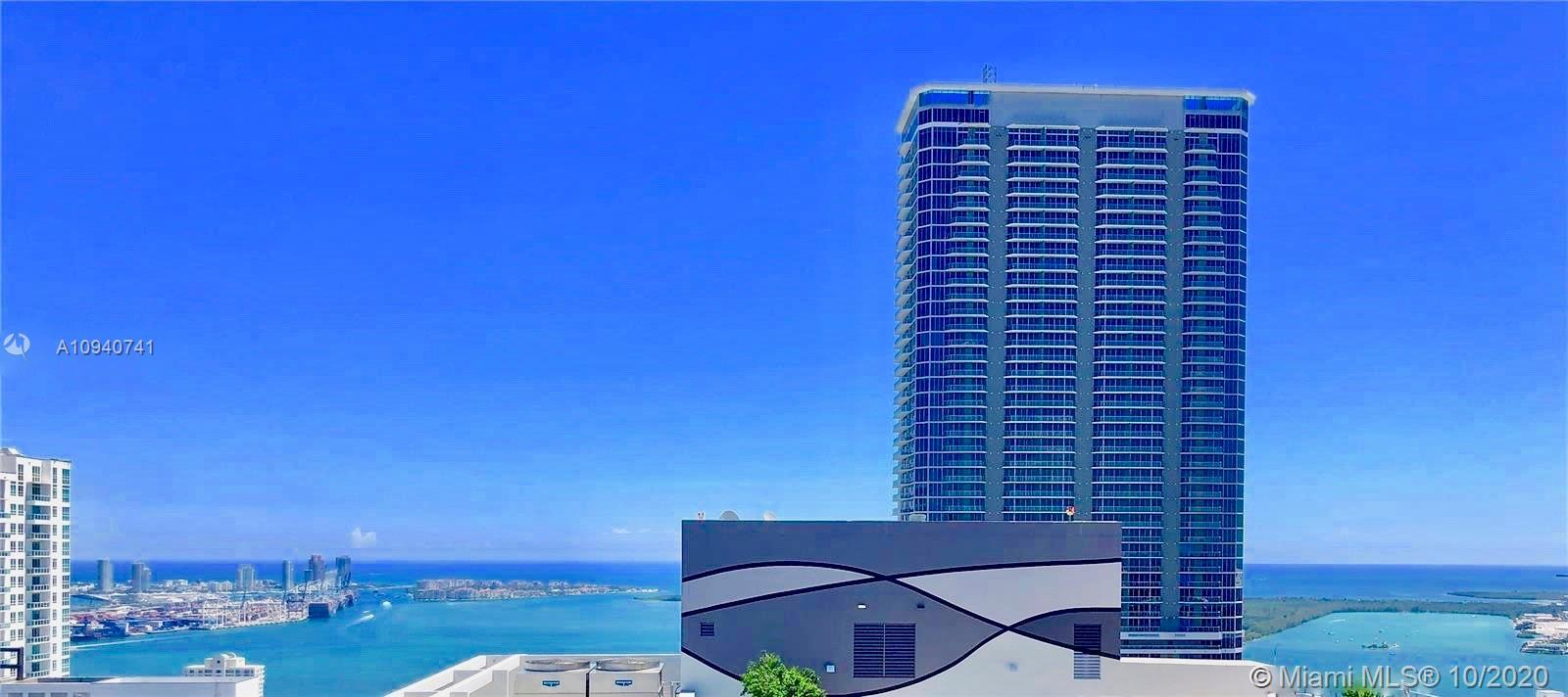 Amazing Home in the Sky from this high floor PH. Bay & Ocean views from this 3 Bed/3.5 Bath at Brick